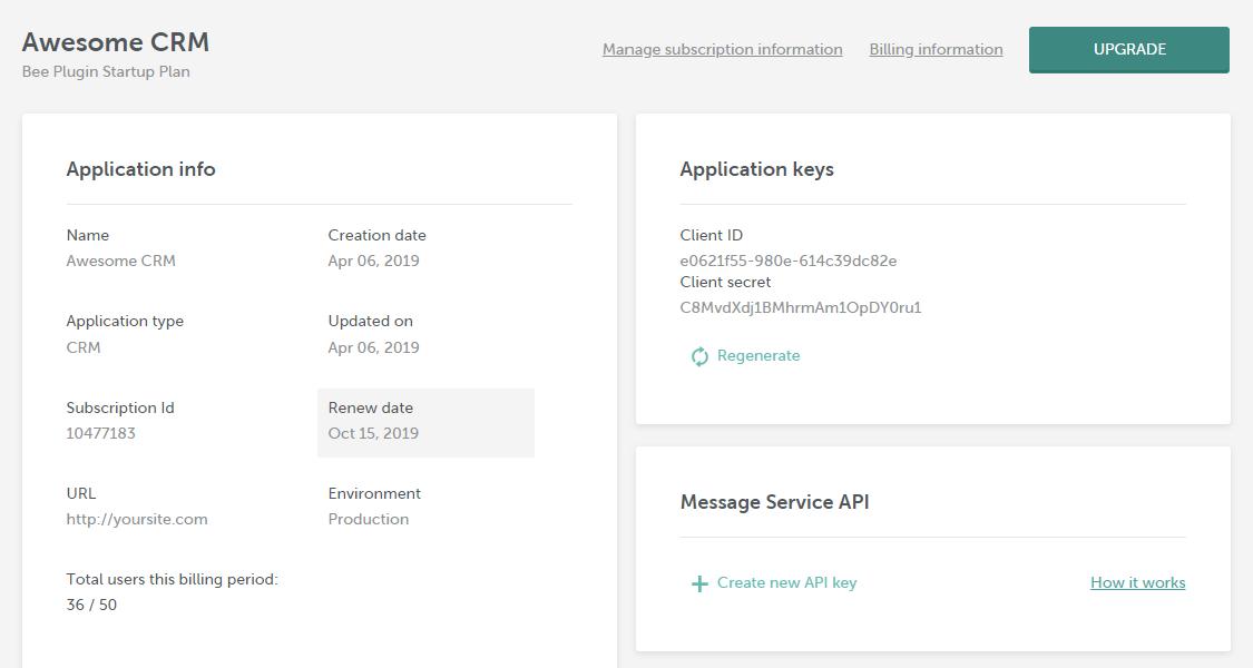 How to obtain API key for Message Services API