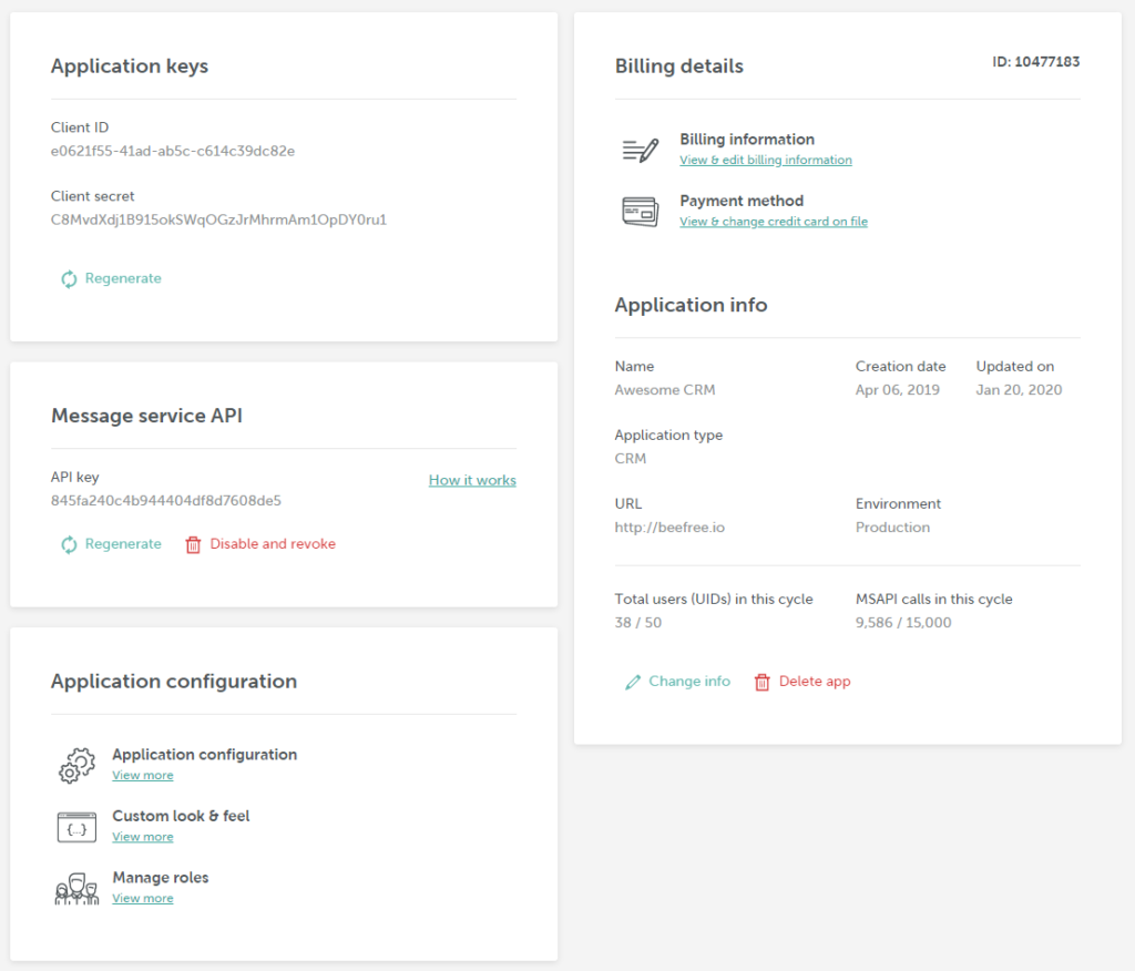 BEE Plugin Development Portal - App details