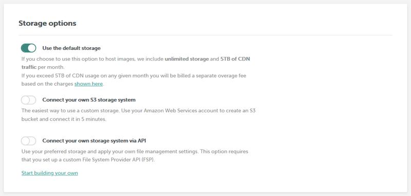 BEE Plugin storage options